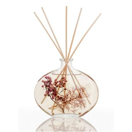 Luxury Gift Reed Diffuser. Attractive glass  reed reed diffuser with pink pepper flowers, looks great in any room of the house. Presented in a gift box with 12 reeds in a . Adds a real touch of luxury to your home and makes a fabulous gift for someone special.