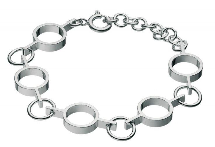 Kalevala Koru / Kalevala Jewelry / Inger-rannekoru / Inger Bracelet / Design Inger Lindholm / Silver & bronze