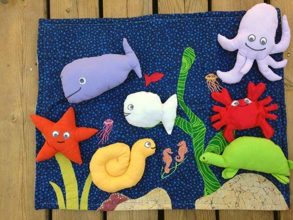 tapis de contes petit poisson blanc