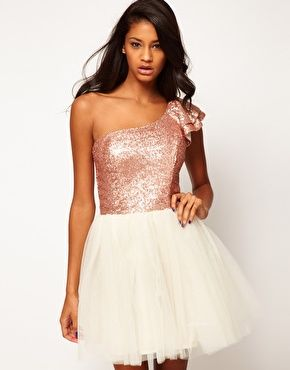 Prom Dress with Sequin One Shoulder