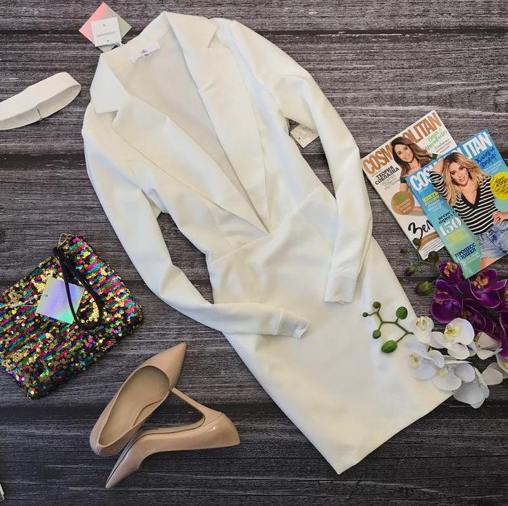 Стильное платье-футляр missguided с лацканами и откровенным декольте Missguided, цена - 1100 грн, #5701877, купить по доступной цене   Украина - Шафа