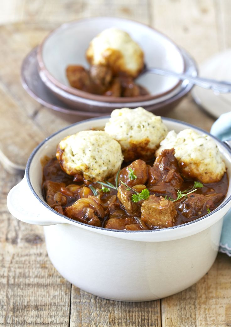 Beef Stew with Herb Dumplings:  wonderful winter comfort food that's so easy to make, and packed with Knorrsome flavour!