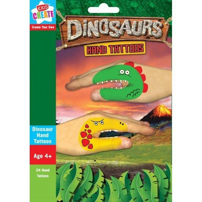 24 st roliga handtatueringar med motiv av Dinosaurier i glada färger. Kul aktivitet för alla barn som gillar Dinosaurier och tatueringar. Under 2 kr/st!