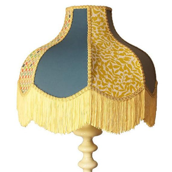 Vintage Inspired Traditional Lamp Hand Stitched Handmade Panelled Hand Trimmed Standard Lamp Lampshade