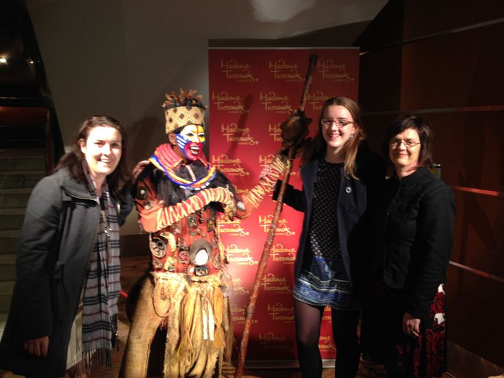 In the foyer after the phenomenal lion king