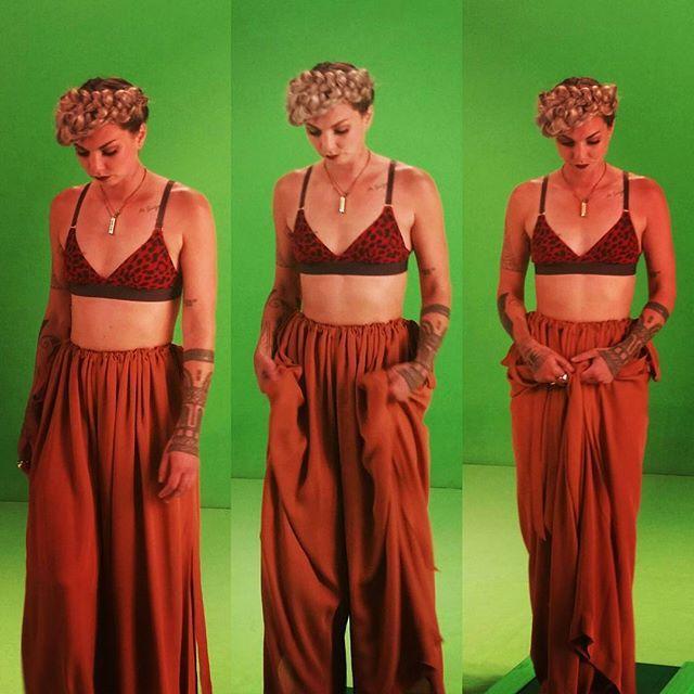 #helenasvideoshoot @msholliesmith wears #stellamcartney and #autrookie graduate pant. #hairbytane #styledbysammy #autrookie