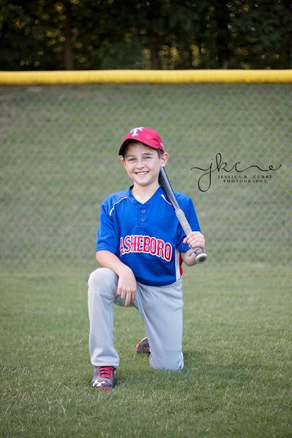 Little League Baseball Picture's.  Pose ideas.  Asheboro, NC.  Jessica K. Curry Photography.  Asheboro Parks and Recreation