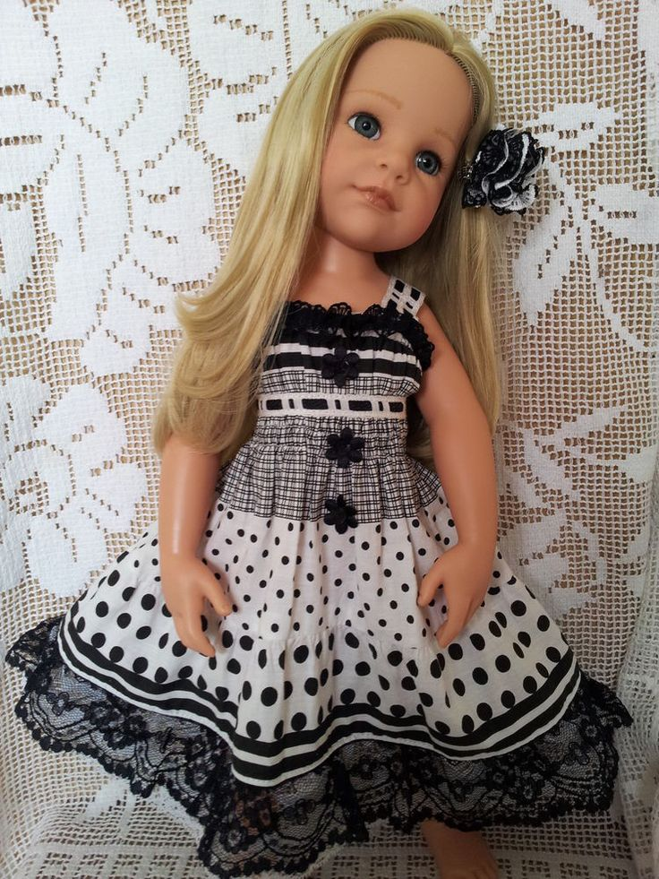SalStuff, Polka Dot & Lace Dress Gotz Designafriend American Girl doll clothes
