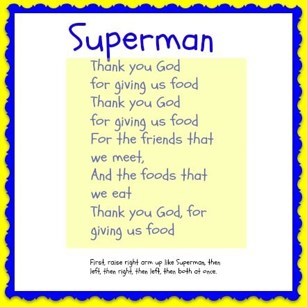 Tuesday's Toddler Tales Superman prayer