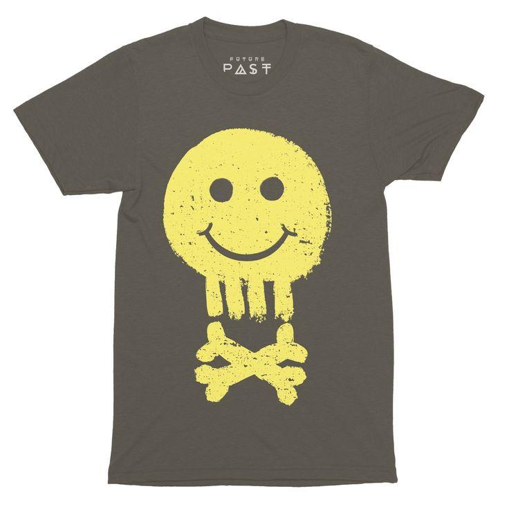 Acid House Pirate T-Shirt / Khaki, Future Past Clothing original design. Threads that turn heads.😍<   #house #acid #shoom #rave #fashion #instafashion #hacienda #mixmag #chicagohouse #raver #phuture #mensfashion #amnesia #style #techno