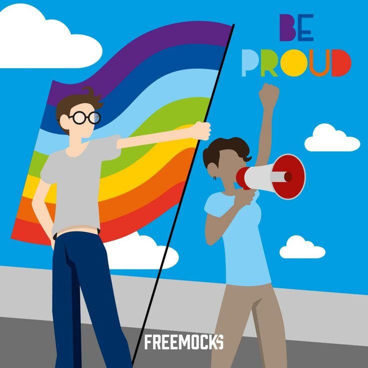Pride LGTBQ Be Proud Love is Love Rainbow Colors – Free graphic resources, vectors, mockups, logos and more!