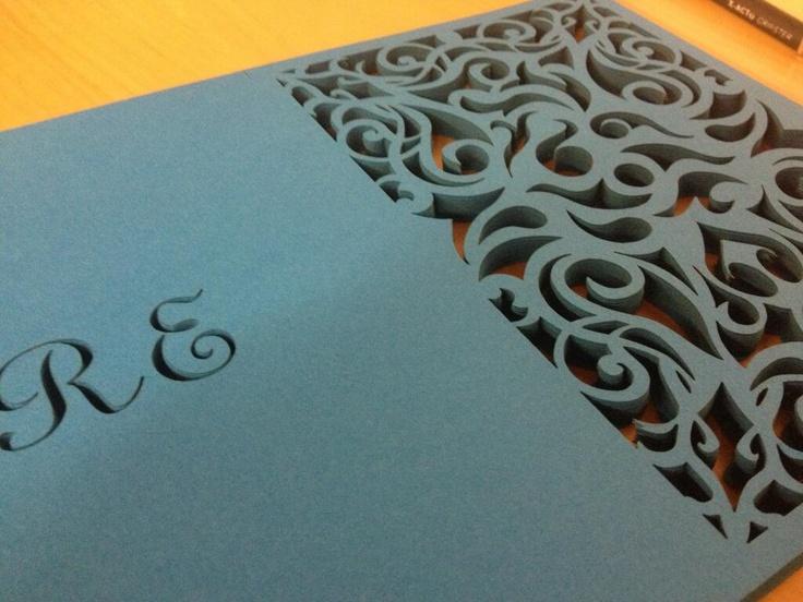 Laser Cut Invitation Design