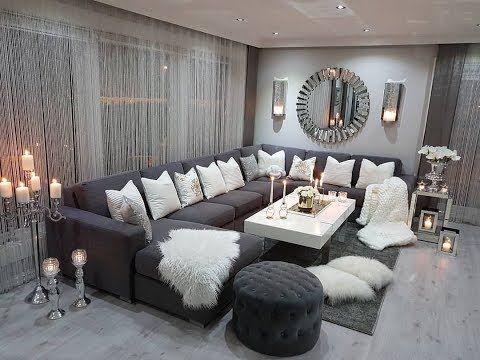12 أفكار رائعة تساعدك عزيزتي في تأثيت السيجور إكسسوارات وسائد طاولات قهوة ألوان مثيرة تاخ Living Room Grey Chic Living Room Decor Living Room Decor Apartment