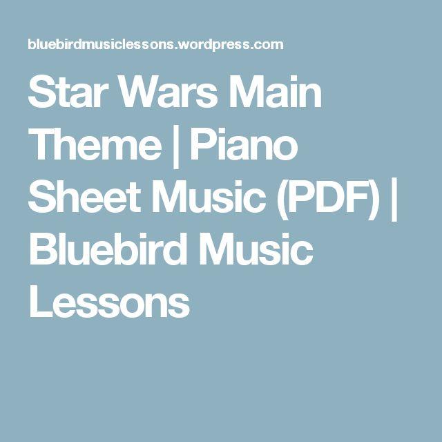 Star Wars Main Theme | Piano Sheet Music (PDF) | Bluebird Music Lessons