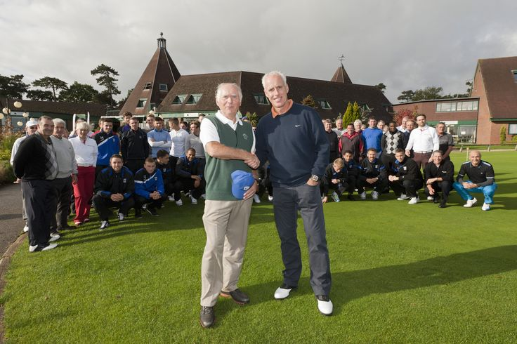 #ipswich town #corporate #golf day held at #uffordpark #mickmccarthy with Mr Aldous, owner of Ufford Park #woodbridge