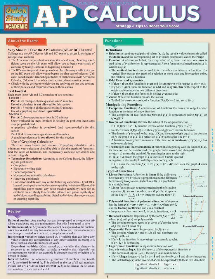 Mathematics Reference Sheets - FCIT