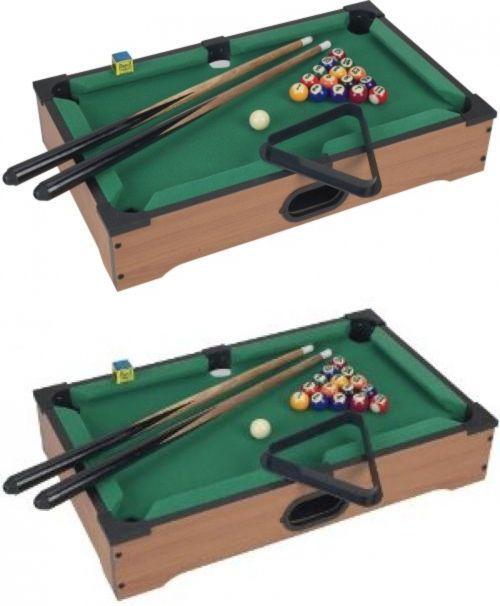 Tables 21213: Tabletop Pool Table Mini Set Game Billiards Miniature Billiard  Cues Balls Kids BUY