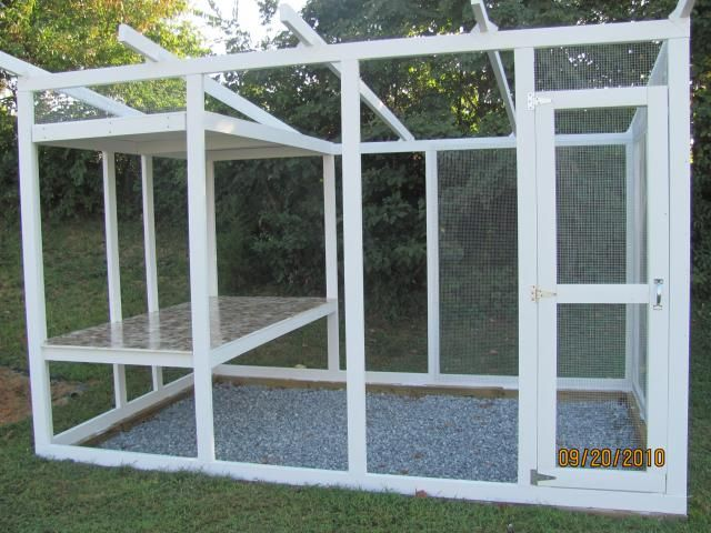 nice coop- I would make this an indoor coop with roosts on the left and a brooding area underneath, sand floor both under the roosting area and on ground level,  & nesting boxes at the back.  This would be a good size for 8-10 birds for winter with walls & a bit of insulation (maybe an opening window too.)