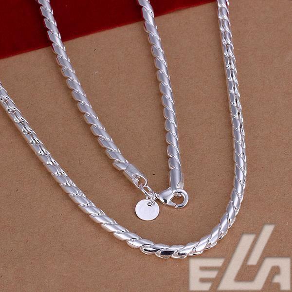 Хорошо продаются горячей серебро мода 20 дюймов Х 4 мм цепи ожерелье спорт стиль ювелирные изделия для мужчин