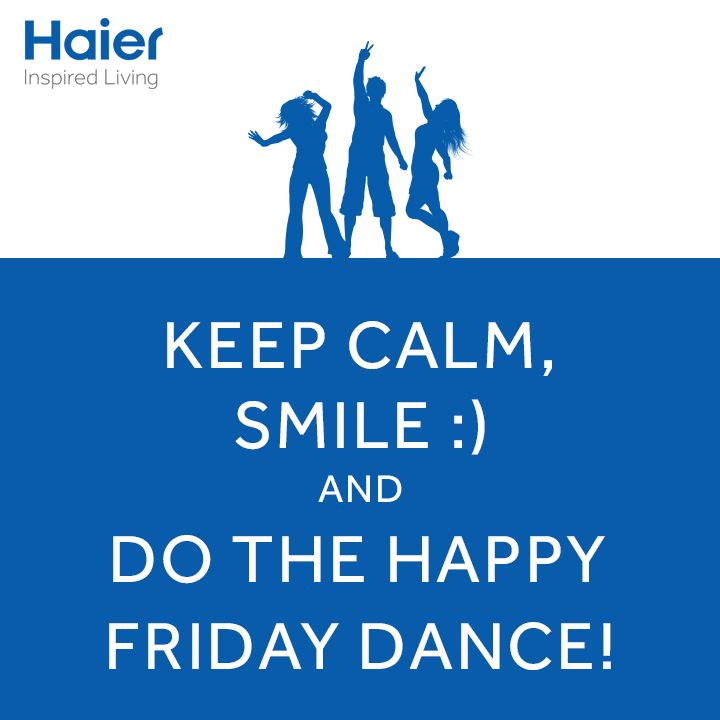 Put your hands in the air and wave them like you don't care…Because IT'S FRIDAY! Time to do the Friday dance! #HappyWeekend, folks.