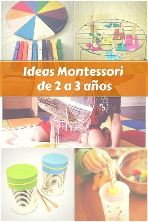 Ideas Montessori De 2 A 3 Anos Montessori Low Cost