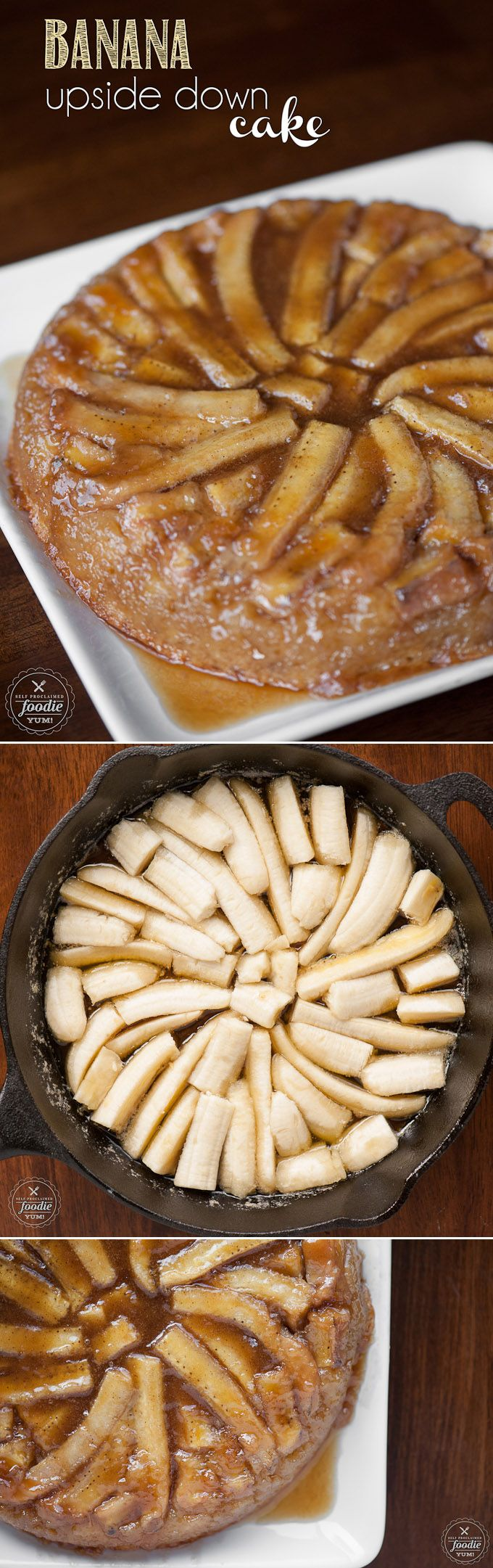 Put those ripe bananas to excellent use and make this easy, rich and sinful Banana Upside Down Cake. Its the perfect dessert for any occasion.