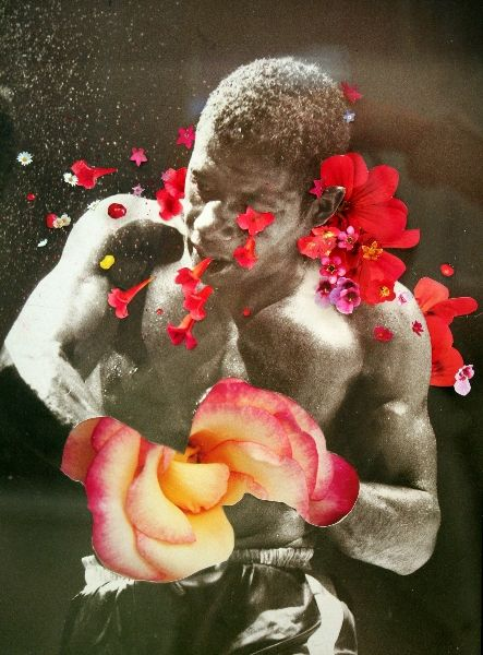 peter-madden-floyd-patterson-war-of-roses-2012-found-photograph-collage-paint-silver-leaf-38-x-31cm-1850.jpg (443×600)