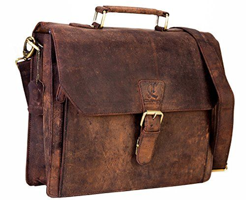 New Trending Briefcases amp; Laptop Bags: 14 Leather Office Bag Vintage Leather Messenger Satchel Briefcase Bag for Mens and Women Leather Laptop Macbook Bag. 14″ Leather Office Bag Vintage Leather Messenger Satchel Briefcase Bag for Men's and Women Leather Laptop Macbook Bag  Special Offer: $69.99  266 Reviews leather buffalo size 14 inch by 11 inch colour dark brown vintage musket adjustable and removable strap many pockets and...