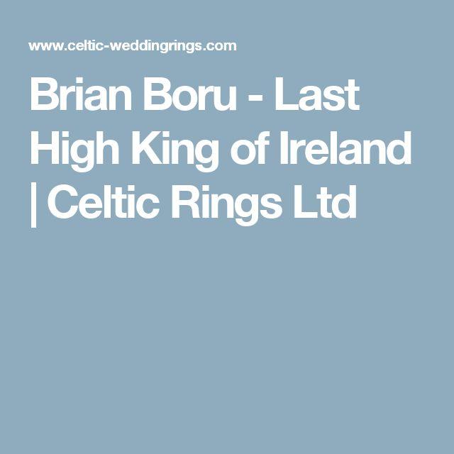 Brian Boru - Last High King of Ireland | Celtic Rings Ltd