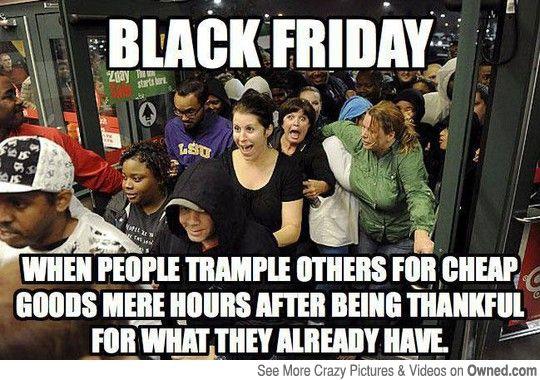 Black Friday logic.