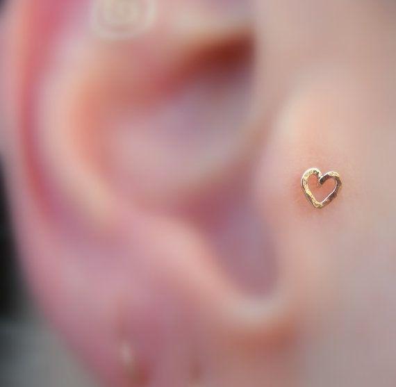 Tragus/Nose Ring/Cartilage Earring 14K Rose door Holylandstreasures, $10.95