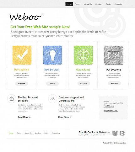 Weboo Design Moto CMS HTML Templates by Delta