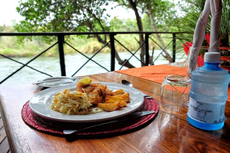 A delicious fish meal watching the birds dart between the rapids surrounding the island.