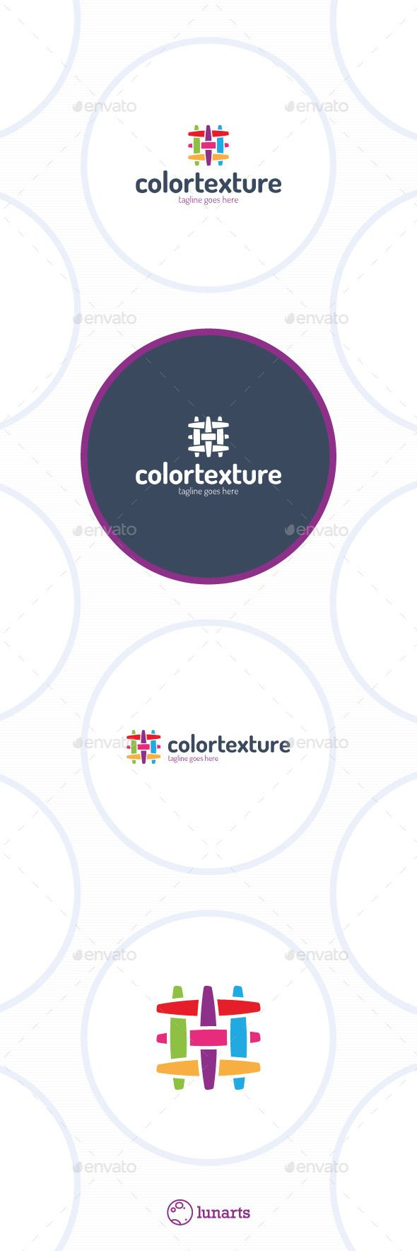 Colorful Texture Logo - Fabric Canvas Linien  #object #sewing #shop • Available here → http://graphicriver.net/item/colorful-texture-logo-fabric-canvas-linien/11926363?s_rank=278&ref=pxcr