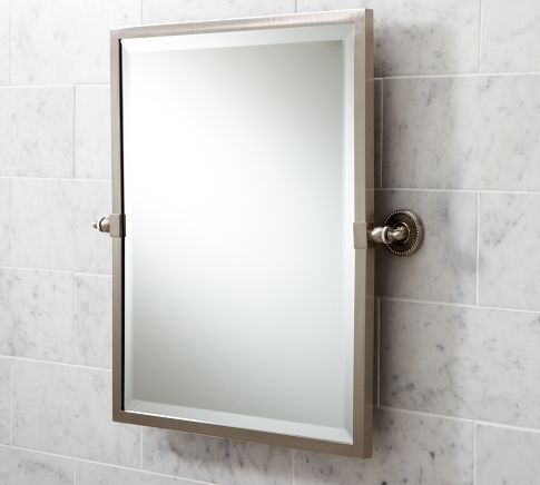 Bathroom Mirror Pivot angled mirror for wheelchair accessibility | accessible bathrooms