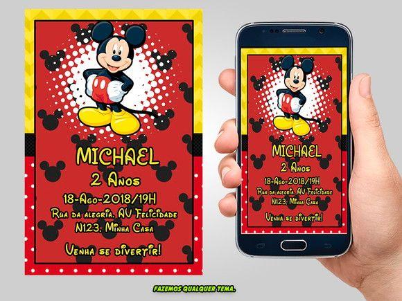 Convite Mickey Digital  c7446e2506e5e