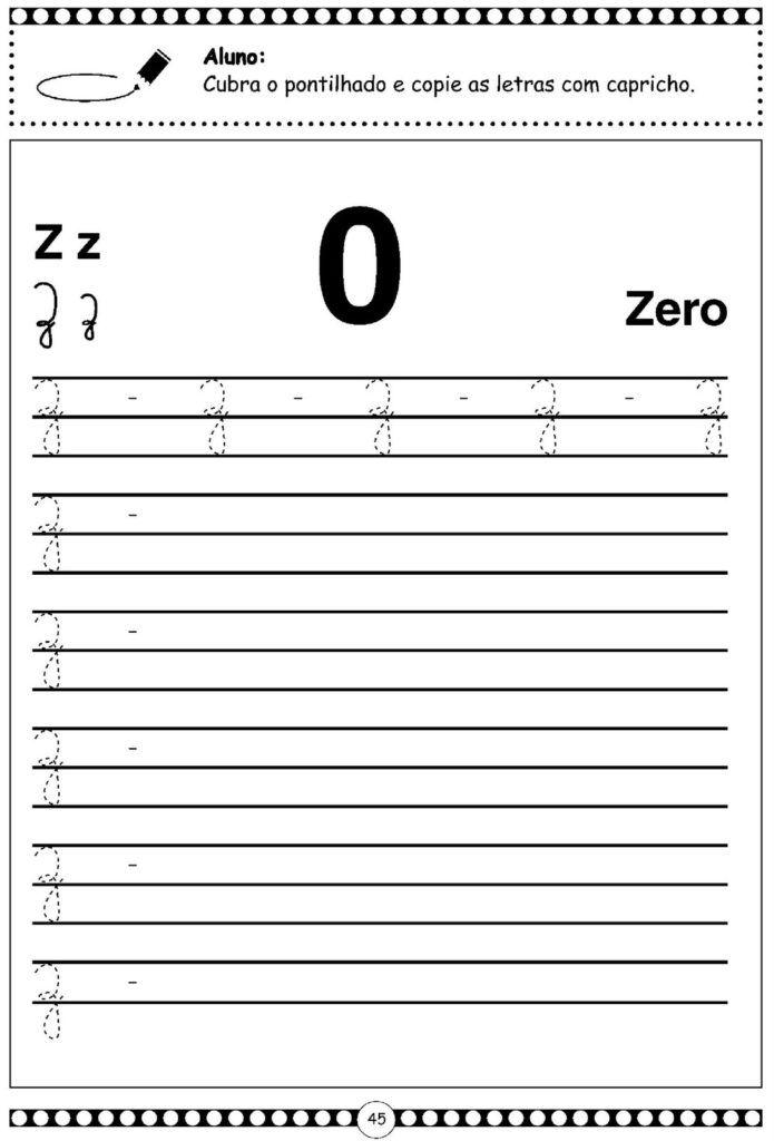 142 Atividades De Alfabetizacao Com Alfabeto Cursivo Cursiva