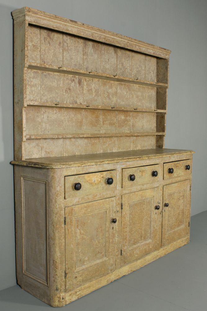 Original Painted 19th Century Bath Dresser