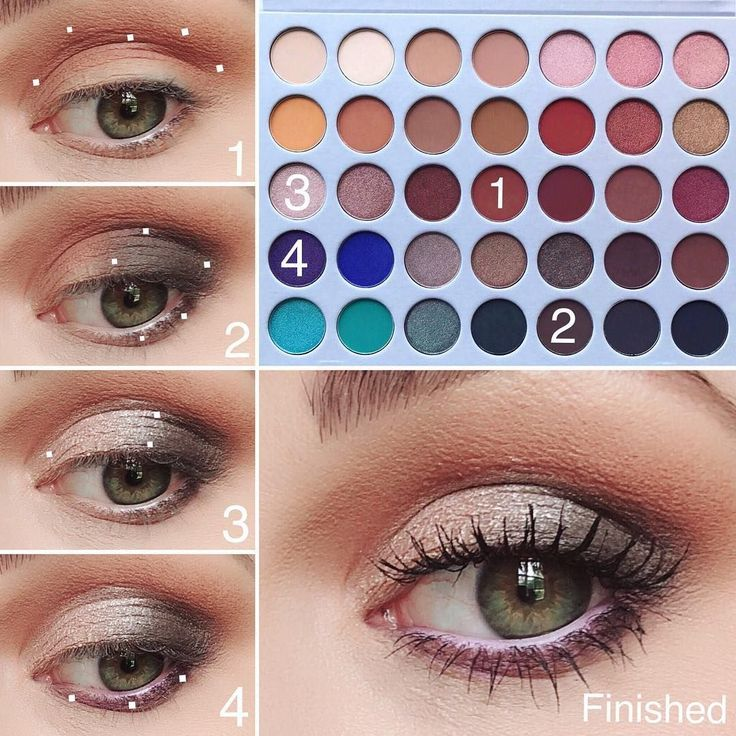 Step by step jaclynhill & morphebrushes Eyeshadow