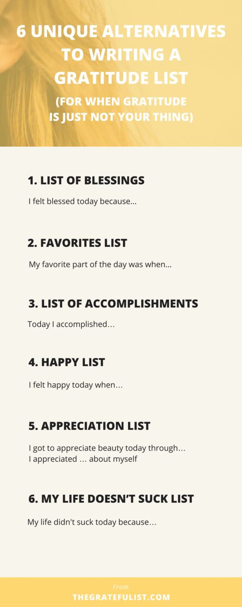 Does the word 'gratitude' resonate with you? Maybe 'gratitude' just doesn't gel. Perhaps you're someone who's into journaling, but gratitude journaling is just not your thing. That's okay! Why don't you reframe that gratitude list-making into something that DOES gel with you? I've come up with 6 other ways you can practice gratitude through journaling and writing a daily list, without it being that dreaded gratitude list. Click through to read more, plus there's a free email...