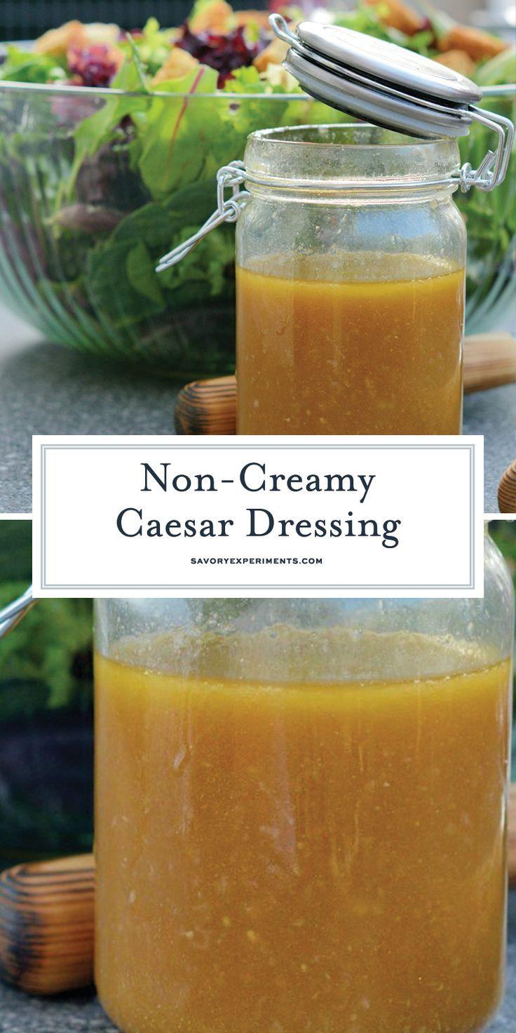 Dieses nicht cremige Caesar Salad Dressing ist eine leichtere Version des cremigen …   – Keto