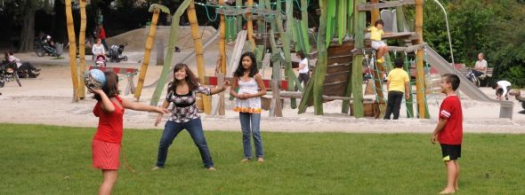speeltuin in het stadspark