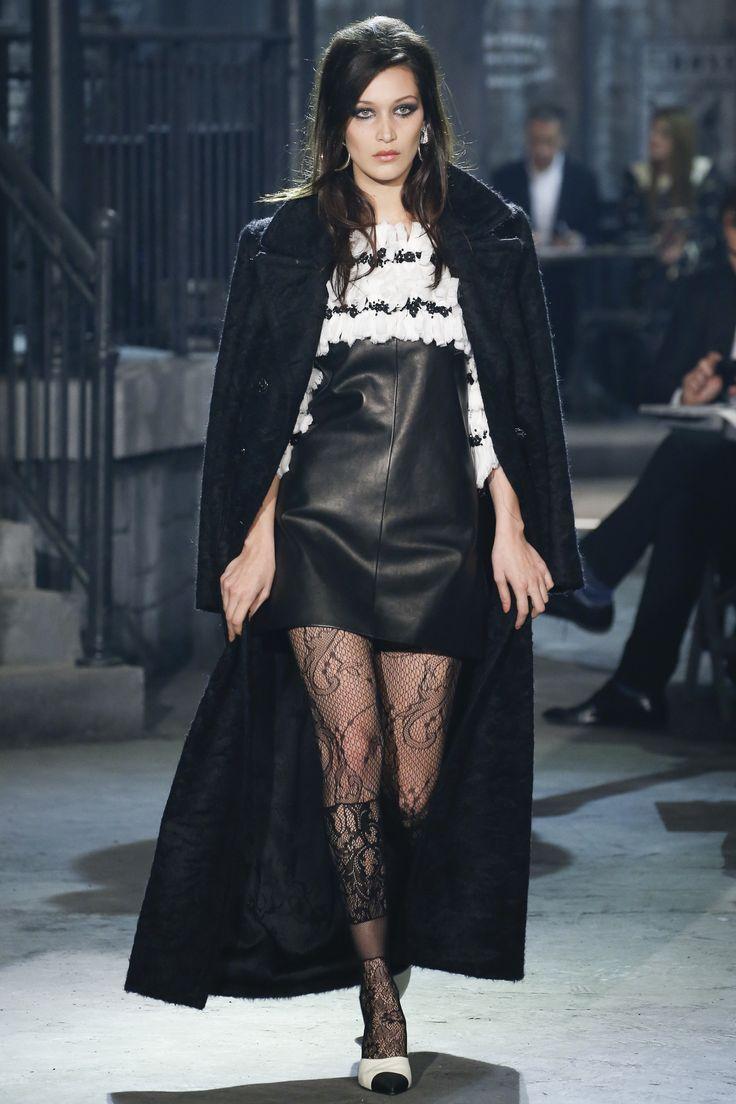 Bella Hadid made her Chanel debut alongside Lagerfeld favorites like Lara Stone and Freja Beha Erichsen