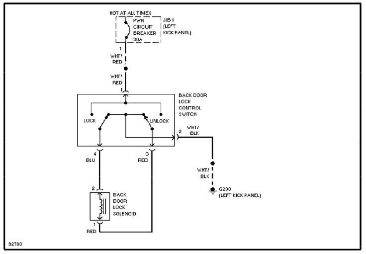 system wiring diagrams back door lock circuit1991 toyota