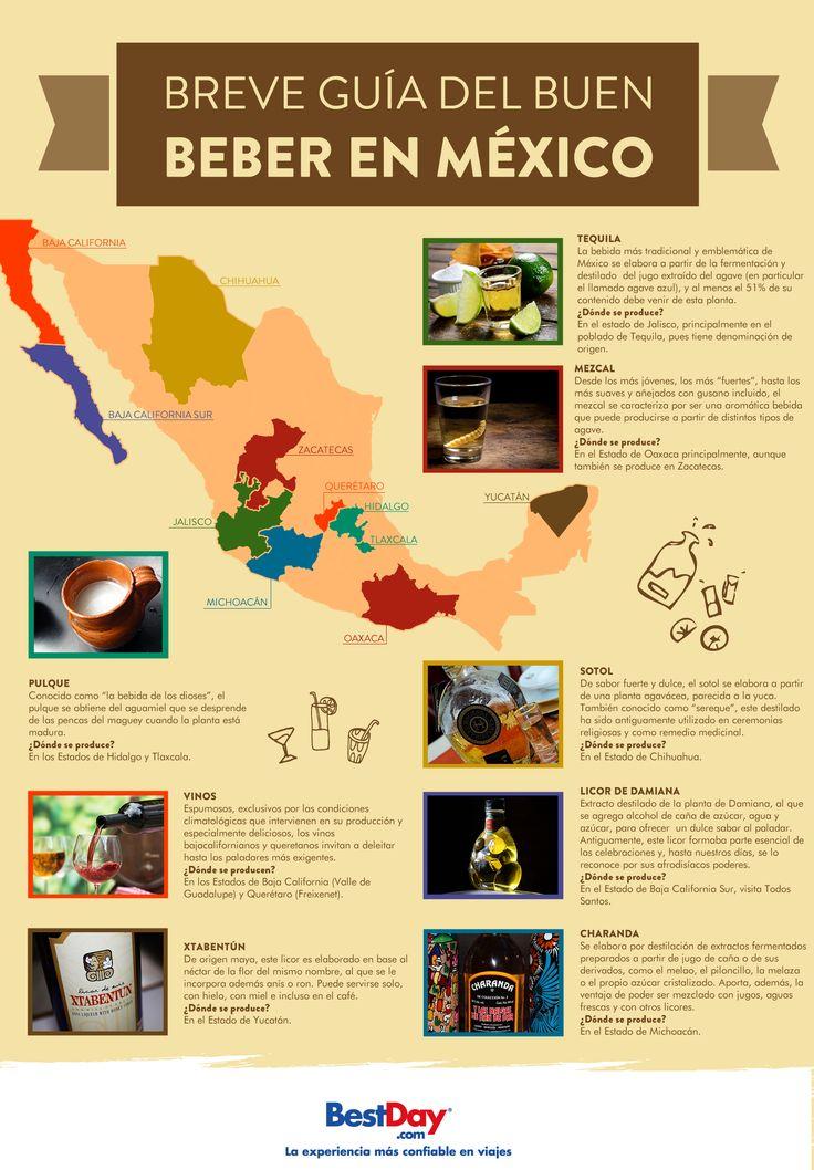 México, rico en cultura y tradiciones, es también productor de diversas bebidas típicas, como el tequila y el mezcal. ¡Échale un ojo a nuestra guía del buen beber en #México!