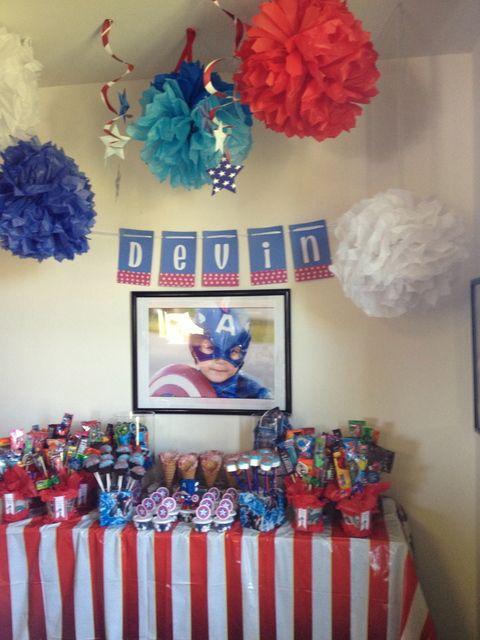 Captain American Candy bar.... So cute!