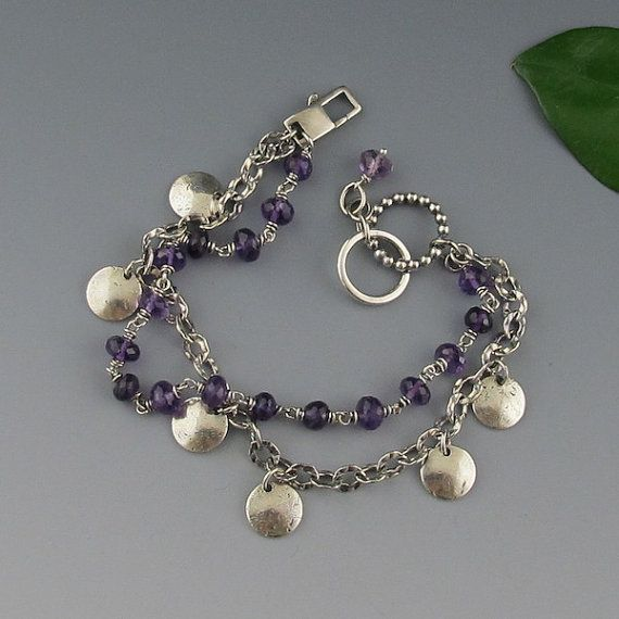 Hey, I found this really awesome Etsy listing at https://www.etsy.com/listing/195163471/reserved-rustic-sterling-silver-purple