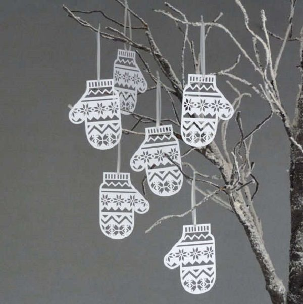 idea: get some branches and hang mitten paper cutouts