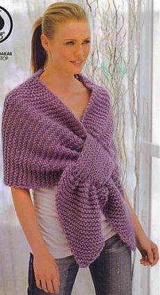 Вязание шарфов спицами - сиреневый шарф - Шарфы - Вязание спицами - Вязание схемы бесплатные - Схемы вязания спицами, крючком. Модели 2014 - 2013 года