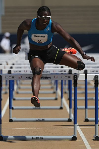 Sharon Day-Monroe runs in the Women's Heptathlon 100m Hurdles during Day 3 of the 2017 USA Track & Field Outdoor Championships at Hornet Stadium on June 24, 2017 in Sacramento, California.